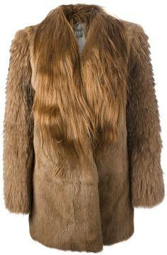 METEO BY YVES SALOMON Brown Rabbit Fur Coat - Lyst