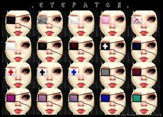 Decay Clown Sims: Eyepatch • Sims 4 Downloads
