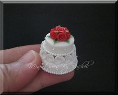 Dollhouse Miniature Wedding Cakes | Miniature 2-Tier Wedding Cake by ~ToothFairyMiniatures on deviantART