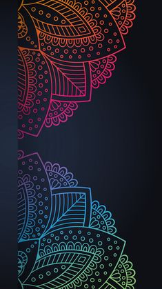Mandala Wallpaper, Geometric Wallpaper Iphone, Cute Wallpaper Backgrounds, Wallpaper Iphone Cute, Pretty Wallpapers, Colorful Wallpaper, Aesthetic Iphone Wallpaper, Pattern Wallpaper, Black Wallpaper