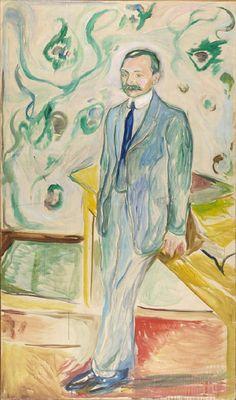 1922 Dr. Wilhelm Wartmann oil on canvas 190 x 111 cm Munch Museum Oslo