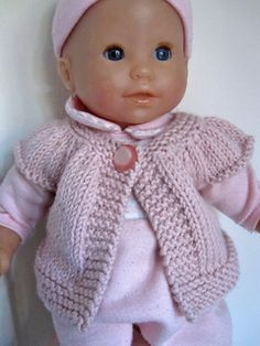 Ravelry: Little Kina pattern by Muriela Knitting Dolls Free Patterns, Knitted Dolls Free, Knitting Dolls Clothes, Baby Doll Clothes, Baby Hats Knitting, Crochet Doll Clothes, Doll Clothes Patterns, Baby Patterns, Free Knitting