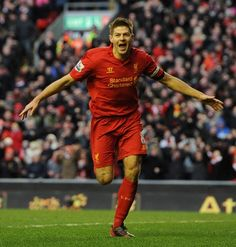 Stevie G scores the penalty to make it 3-2 v Spurs today. Top win!