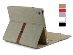 Just got this...Dealheroes Grey Pu Leather Case Cover with Leather Belt+buckle for IPad $21.99