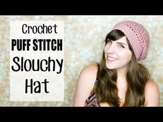 Puff Stitch Slouchy Beanie Crochet Tutorial!