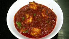 Prawn balchão is a fiery dish from Goa in coastal western India and is much like a pickle. Do as the Goans do and serve it with hot plain boiled rice. Goan Recipes, Veg Recipes, Indian Food Recipes, Cooking Recipes, Ethnic Recipes, Dinner Recipes, Veg Dishes, Curry Dishes, Kitchens