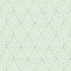 love this wallpaper! design by Eijffinger® vliesbehang driehoek mintgroen | Behang | Behang | KARWEI
