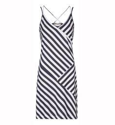 Sandwich kleding jurk Wit streep dessin - dameskleding - NummerZestien.eu