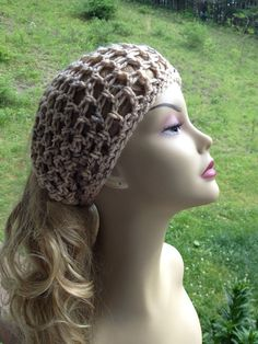 Head Scarves and Wraps | Crocheted Head Scarf, Dread Wrap Mesh on Etsy, $14.00 | Crochet