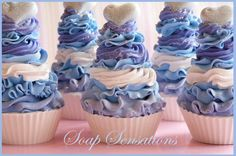 The Happy Housewife and her soap obsession: Soap Cupcakes & a few Bar Soaps