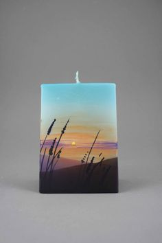 Handmade and hand painted candles