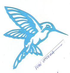 colibri papercut