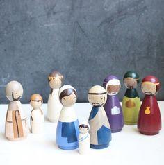 PEG-Puppe Krippe Holzpuppen / / Gans Fett Original von goosegrease