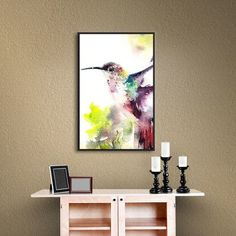 """House of Hampton Hummingbird by Canot Stop Framed Painting Print Size: 14"""" H x 18"""" W x 2"""" D"""
