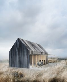 Style and Create — Beautiful boat house located on the beach at Svallerup Strand, Denmark, by Copenhagen-based architecture firm WE Architecture