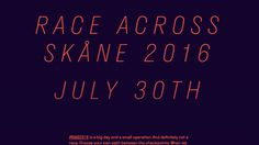 Race Across Skåne is definitely not a race. 193km of cycling through the Skånish countryside, in the best of company.  Production Type's Stratos was not only aesthetically a match for the event, the multiplex design, where glyphs retain the same width regardless of weight, inspir...