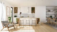 Some Of The Best Minimalist Kitchen Design Ideas You Can Have In Your Kitchen No one likes to cook in outdated kitchen and for that you need perfect interior design for your kitchen. Here are the best minimalist kitchen design ideas for you. Luxury Kitchen Design, Luxury Kitchens, Interior Design Kitchen, Kitchen Designs, Nordic Interior, Japanese Interior, Interior Decorating, Decorating Ideas, Home Decor Kitchen