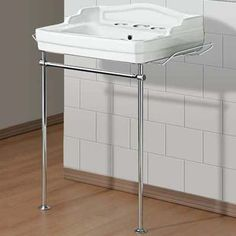 Toh Save Leggy Wall Mount This Vitreous China Sink Gets Old Fashioned Flair