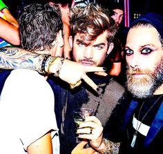 Adam Lambert with friends