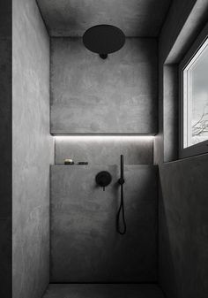 An essential part of the bathroom interior space, the modern shower space continues the perfect combination of art and life. In many cases, the bathroom ar Bathroom Design Luxury, Home Interior Design, Bathtub Decor, Concrete Bathroom, Bathroom Design Inspiration, Chic Bathrooms, Bathroom Fixtures, Bathroom Faucets, Apartment Design