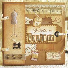 """Mini-album thème Couture """"Secrets de Couture"""""""