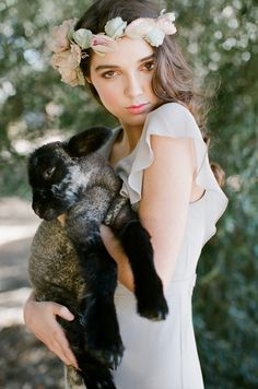 looking through an editorial wedding, and all of a sudden... a lamb!