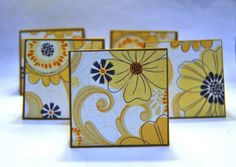 Rustic mini lunch note cards. 5 small kraft brown by LadyBugCo, $2.50