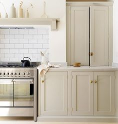 Greige is the new beige - revival What Is the Next Big Kitchen Cabinet Color Trend? via Greige is the new beige - revival What Is the Next Big Kitchen Cabinet Color Trend? Big Kitchen, Kitchen Paint, Rustic Kitchen, Kitchen And Bath, Kitchen Island, Kitchen Ideas, Kitchen Decor, Distressed Kitchen, Updated Kitchen
