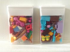 Recycled Tic Tac boxes- use for small LEGO pieces from the LEGO Friends sets or other LEGO sets