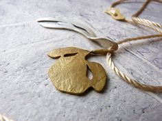 PENDANT sterling silver and gold plated brass by anapina on Etsy