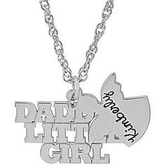 Sterling Silver Daddy's Little Girl Necklace from Personal Creations.