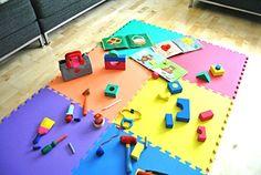 "Non-Toxic 24"" X 24"" X ~9/16"" Extra Thick Non-Recycled Quality Rainbow Baby Waterproof Playmats (Set of 6): Red, Orange, Yellow, Green, Blue & Purple eWonderWorld http://www.amazon.com/dp/B004XIQTSM/ref=cm_sw_r_pi_dp_828Ovb1CA73SZ"