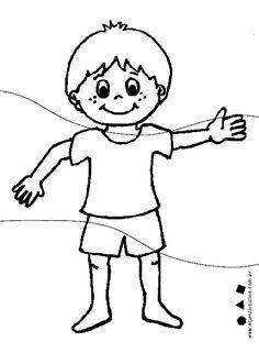 Rompecabezas del cuerpo humáno para niños de preescolar para ...