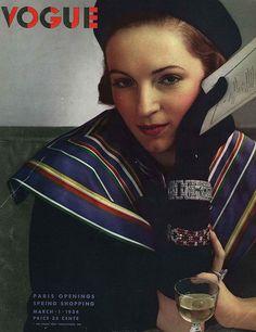 Couverture de magazine de mode : Edward Steichen, Vogue, Mars 1934