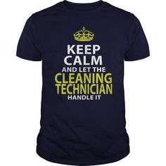 Awesome Tee  CLEANING TECHNICIAN - KEEPCALM GOLD Shirts & Tees