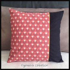 Housse de coussins en tissu japonais motif géométrique : Textiles et tapis par nymeria-creation