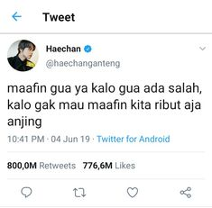 Cuitan member nct di twitter #shortstory #Short Story #amreading #books #wattpad Quotes Lucu, Quotes Galau, Jokes Quotes, Book Quotes, Funny Quotes, Funny Kpop Memes, Cute Memes, Funny Tweets Twitter, Text Jokes