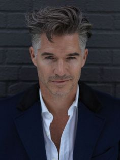 Older mens hairstyles, haircuts for men, pretty hairstyles, men' Medium Hair Cuts, Medium Hair Styles, Short Hair Styles, Best Hairstyles For Older Men, Haircuts For Men, Eric Rutherford, Silver Foxes Men, Grey Hair Men, Hair And Beard Styles