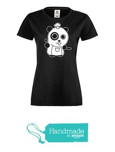 Cute Panda Chef Themed Black Ladies T Shirt from Clayfrog https://www.amazon.co.uk/dp/B07193JZ92/ref=hnd_sw_r_pi_dp_QQEczbB126MAS #handmadeatamazon