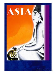 Burmese Sculptor at the Knees of Buddha Posters by Frank Mcintosh at AllPosters.com