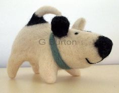 A needle felted mutt.