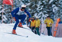 Franz Klammer Hurtles Toward Downhill Gold in Innsbruck, 1976 Vintage Ski, Vintage Sport, Ski Racing, Alpine Skiing, Winter Games, Sports Figures, Innsbruck, Winter Olympics, Nostalgia