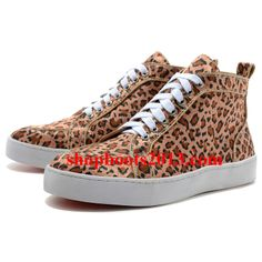 Buy New Arrival Christian Louboutin Mans Leopard High Top Sneakers Brown from Reliable New Arrival Christian Louboutin Mans Leopard High Top Sneakers Brown suppliers.Find Quality New Arrival Christian Louboutin Mans Leopard High Top Sneakers Brown and mor Louboutin Sneakers, Louboutin Shoes Outlet, Louboutin High Heels, Cheap Louboutins, High Top Sneakers, Sneakers Mode, Brown Sneakers, Christian Louboutin Red Bottoms, Cheap Christian Louboutin