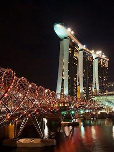 The Helix Bridge, Singapore... http://biguseof.com/travel