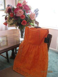 Jack by BB Dakota Wesley Dress in Electric Orange: 6  #BBDakota