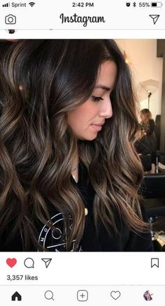 Hair color ideas for brunettes for summer low lights 18 ideas for 2019 - Haarfarben Ideen Hair Color And Cut, Brown Hair Colors, Hair Color Ideas For Dark Hair, Ombre For Dark Hair, Dark Brown Hair With Highlights And Lowlights, Dark Fall Hair, Dark Brown Hair With Highlights Balayage, Summer Highlights, Subtle Highlights