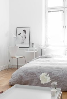 soothing white bedroom