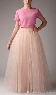 Fashion Simple Women Skirts All Colors 5 Layer Floor Length 2015 Adult Long Tutu Tulle Skirt A Line Plus Size Long Skirts, $36.15 | DHgate.com