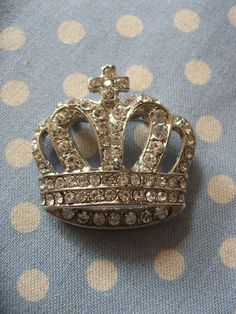 Queen Elizabeth royal crown clear Swarovski by weddingvalle, $9.99