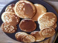 sucre semoule, oeuf, levure, lait, beurre doux, farine, sel Pancakes Nutella, Banana Protein Pancakes, Almond Pancakes, Greek Yogurt Pancakes, Crepes And Waffles, Tasty Pancakes, Homemade Pancakes, Best Pancake Recipe, Waffles